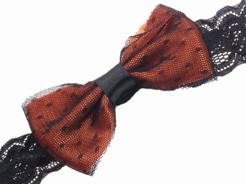 Glitz4Girlz Orange Bow With net Head Band by Glitz4Girlz