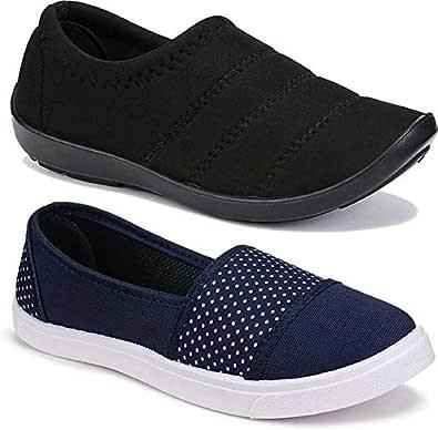 WORLD WEAR FOOTWEAR Women's Multicolor (11031-3003) Casual Sneaker Loafer Shoes