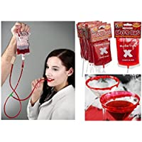 CANDY BLOOD In Transfusion Bag Drip Halloween Horror Vampire Fake Blood Stage Make Up Lot by Lizzy®