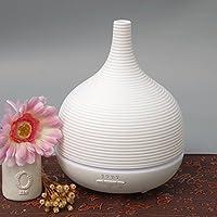 Aiho Humidificador 500ml Ultrasónico Difusor de Aceites Esenciales Aromaterapia 7-Color LED 4 Ajustes de Tiempo Para Yoga Spa Hogar Oficina Dormitorio Baño (Blanco)