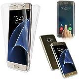 CABLING® Housse Coque Tactile 360 degrés | Samsung Galaxy S7 Edge | Silicone TPU net | Transparent Doux Protection Écran Étui Double-Couche Ultra-mince