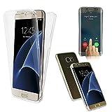 CABLING Housse Coque Tactile 360 degrés   Samsung Galaxy S7 Edge   Silicone TPU net   Transparent Doux Protection Écran Étui Double-Couche Ultra-mince