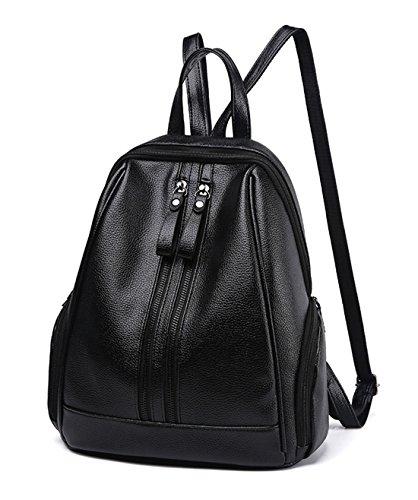 d4716fd7353fd Maibaoma Pu Niedlich Schulrucksäcke Rucksack Damen Mädchen Vintage Schule  Rucksäcke mit Moderner Streifen für