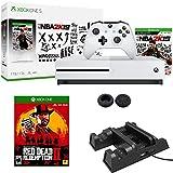 Microsoft Xbox One S 1To avec NBA 2K19et Red Dead Redemption 2avec support vertical ventilateur de refroidissement avec station de chargement double contrôleur Bundle