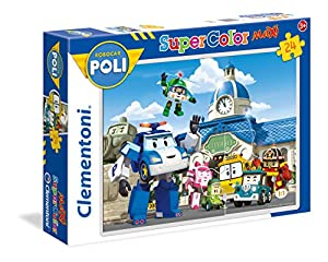Clementoni - Compecabezas Robocar Poli - 24 Piezas - Modelo n. 24494 24 Pezzi