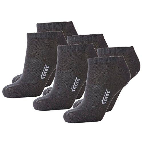 Hummel 6 Paar Sneaker Socken für Damen und Herren - viele Farben - Größen 36-48 (41 - 45 (12), Castle Rock/Black (2654))