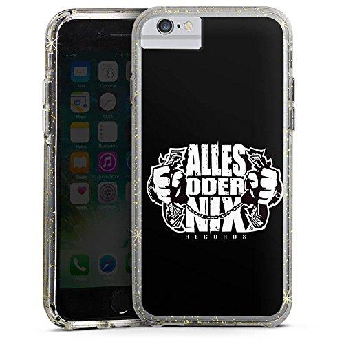 Apple iPhone 7 Bumper Hülle Bumper Case Glitzer Hülle Xatar Fan Article Merchandise Fanartikel Merchandise Bumper Case Glitzer gold