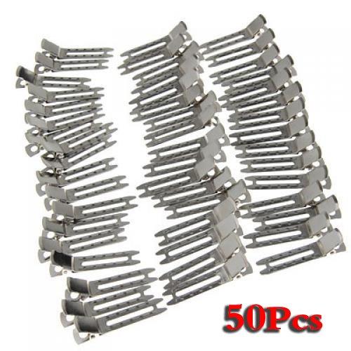 annahernd-50x-doppelklicken-zinke-metall-alligator-clips-haar-bogen-silber