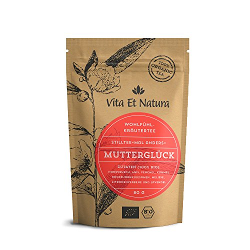 """Vita Et Natura""""Mutterglück"""" Milchbildungs- und Stilltee - 80g loser Kräutertee mit Bockshornklee - 100% BIO"""