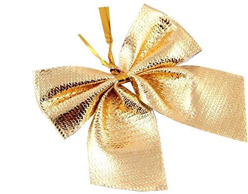 Romote Weihnachtsschmuck Red 12 mini 60mm 6cm Rim Velvet Weihnachten Band beugt Verzierungen (Gold) Gold Rim Band