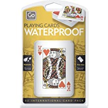 Go Travel Waterproof, Non-Tear, Wipe Clean Playing Cards Inc Case