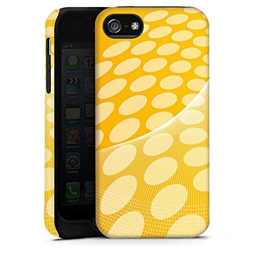 Apple iPhone X Silikon Hülle Case Schutzhülle Muster Punkte Orange Tough Case matt
