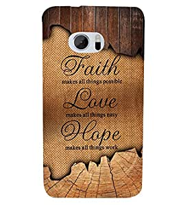 Faith Love Hope 3D Hard Polycarbonate Designer Back Case Cover for HTC One M10 :: HTC M10