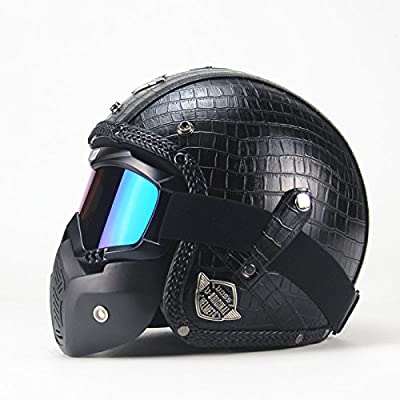 Motorcycle Helmet Retro Personality Harley Helmet Motorcycle Motorcar 3/4 Helmet Men And Women Security Crash Four Seasons Available by CTao