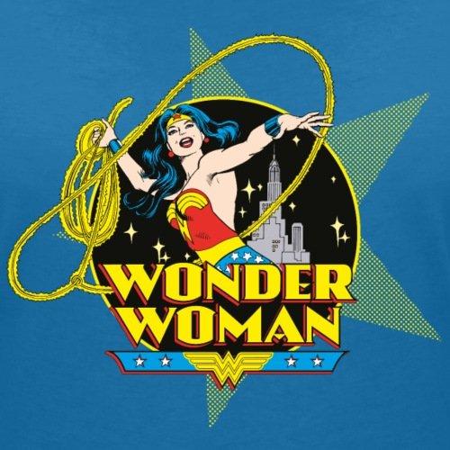 DC Comics Originals Wonder Woman Lasso Rétro T-shirt col V Femme de Spreadshirt® bleu paon
