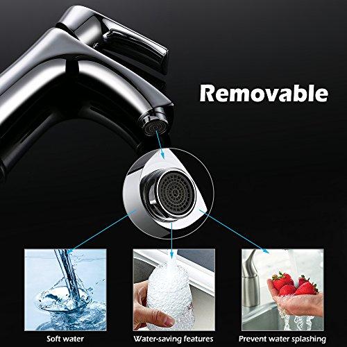 Homelody Waschtischarmatur Badarmatur Bad Mischbatterie Waschbecken Armatur Chrom Wasserhahn Waschbeckenarmatur f. Badezimmer - 2
