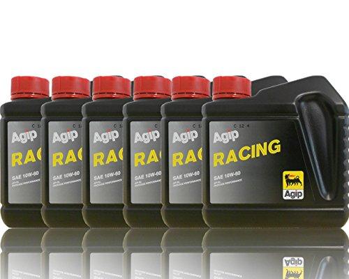 Agip Racing huile de moteur SAE 10 W 60-6 x 1 L