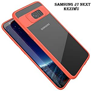 AEMA(TM) 360 DEGREE (RED) KEZIWU BACK COVER WITH TRANSPARENT BACK 100% Original brand silicone protective cover shell Transparent HardBack with Soft Bumper Cushion Case FOR SAMSUNG J7 MAX RED