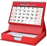 2018 Mese per visualizzare spirale Desk Top Calendario con Memo Pad