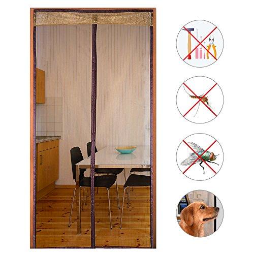 Holove Magnetisch Fliegengitter Tür Mesh Bug Proof Vorhang, Fernhalten Von  Mücken Vorhang Für Balkon Schiebetüren Wohnzimmer Kinderzimmer Coffee