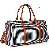 Ladies Women Weekender Bag Canvas Travel Duffel Tote Bag for Women Holdall Wenkend