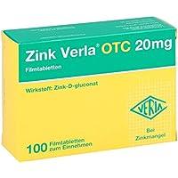 Zink Verla Otc 20 mg Filmtabletten 100 stk preisvergleich bei billige-tabletten.eu