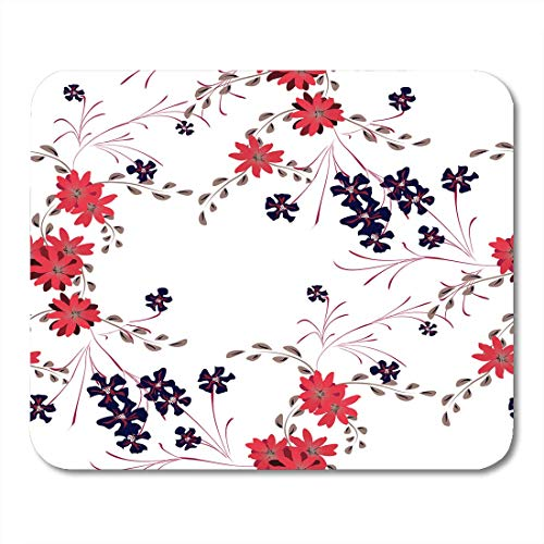 AOHOT Mauspads Small Flowers Cute Daisy and Pansies Feminine in Country for Curtains Calico Spring Rapport Mouse Pad Mats 9.5