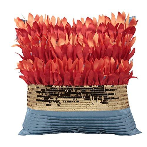Queenie®-1PC 3dimensionale Blume Stickerei & Aufnäher Floral Dekorative Kissenbezüge Kissenhülle Werfen Kissen Fall 45,7x 45,7cm 45x 45cm, baumwolle, Sunflower Petals, 18 x 18 inches - Florale Stickerei Kissen