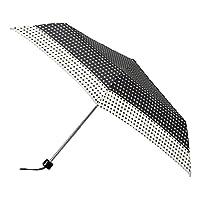 Isotoner Womens Black And Cream Supermini Polka Dot Umbrella
