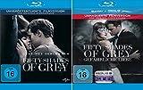 Fifty Shades of Grey - 1 Geheimes Verlangen + 2 Gef�hrliche Liebe (Unmaskierte Filmversion) im Set - Deutsche Originalware  Bild