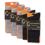 #7: FootPrints Organic Cotton and Bamboo Men's Formal Socks Pack of 5 -( 2 Black 3 Grey )