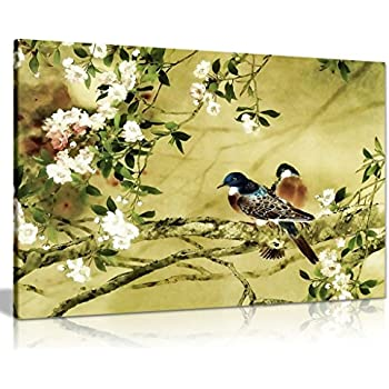Oriental Canvas Art Birds Plum Blossom Canvas Wall Art Picture Print ...