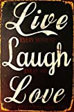 "Sketchfab ""Live Laugh Love"" Wall Sign (Wooden, 30 cm x 20 cm)"