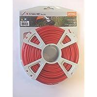 Línea de alambre Cortacésped Stihl 000093023432,7mm 68m rojo redondo