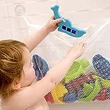 Filet de rangement en mailles fines jouets de bain bébé Pochettes de rangement murales, Filet de rangement jouets en maille fine avec ventouses