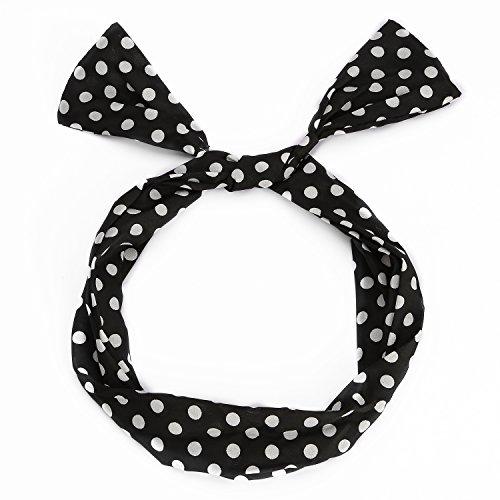 utovme-femmes-filles-bandeau-cheveux-a-pois-hair-hoop-headband-style-retro-noir-avec-pois-blanc