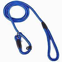 Luniquz Laisse pour Chien Laisse de Dressage Collier Chien en Nylon Corde Réglable (Bleu)
