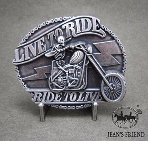 napolo Western Buckle Belt Cowboy gurtelschnallen New Biker offene Straße live to Ride