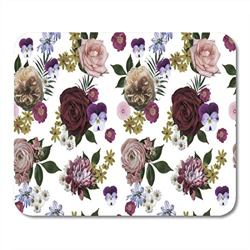 Deglogse Gaming-Mauspad-Matte, Graphic Bloom Flowers Blossom Botanical Botany Bouquet Floral Luxury Mouse Pad, Desktop Computers mats -