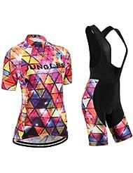 (Cojín 3D)(traje tamaño:XL) ropa chaleco maillot ciclismo Jerseys para manga Moda de sudo transpirable los rendimiento corta rompevientos mujer
