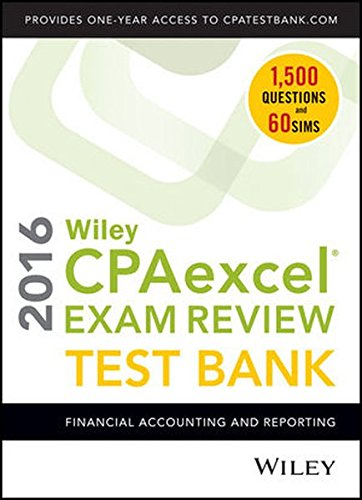PDF Download] Wiley CPAexcel Exam Review 2016 Test Bank