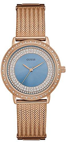 Guess – Reloj willow w0836l1 mujer azul acero chapado oro rosa
