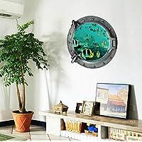 Underwater world 3D Wall Sticker Home Decor Wall Decal for Bathroom Wallpaper