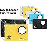 Camera Shell Case Jabond 4K Sports Action Camera Replacement Shell For Wifi Underwater Video Camera (5 Color Pack)