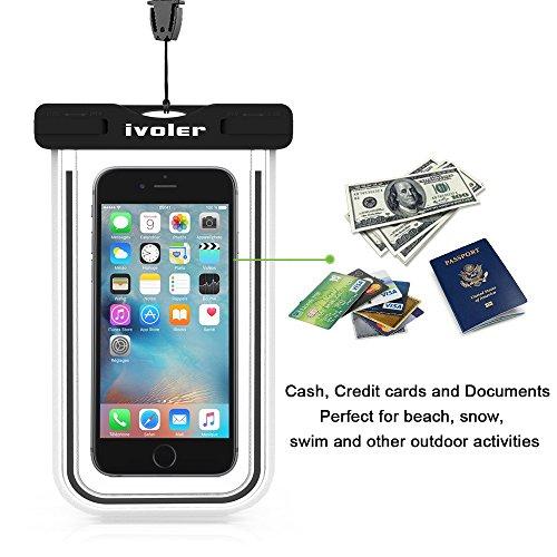 [Certifiée IPX8] Pochette étanche, [2 pièces] iVoler Pochette Sac étanche Universel Waterproof Case Bag Housse Coque Etui pour Apple iPhone 7, 7 Plus,6s / 6, 6s Plus / 6 Plus, SE 5S 5C, Samsung Galaxy Nior+Nior