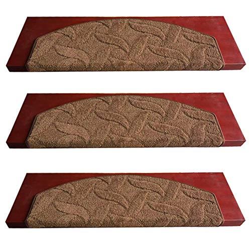 Sicuro Scala Carpet Tappeti, Serie di 13 Anti Slittamento Scala Tappeto gradini Set 1 Auto-Adesiva Stuoie Gomma Fondo Tutta Stagione per Bambini Anziani Animali Domestici -D 75x24x3cm(30x9x1inch)