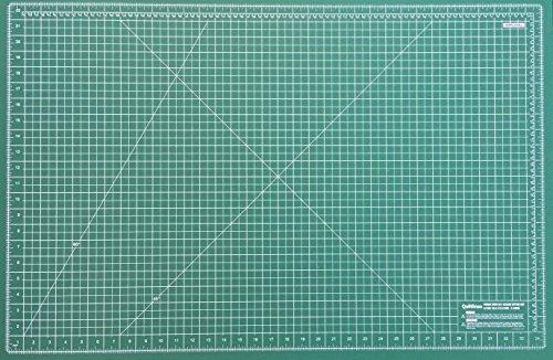 Doble cara tapete de corte autoreparable con 5capas en Imperiales y métricas Tamaño A1–36x 24'(60x 90) por quiltlines