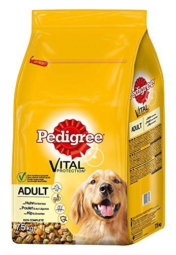 Pedigree Adult Hundefutter Huhn und Gemüse, 1 Beutel (1 x 7,5 kg)