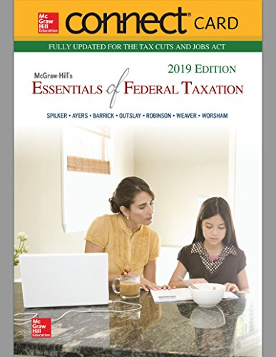 Connect Card Access Mcgraw-hill (Connect Access Card for Mcgraw-hill's Essentials of Federal Taxation 2019 Edition)