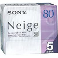 Sony Neige Series MiniDisk 80 Min 5 Pack Recordable MD (japan import)